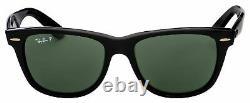 Ray-Ban Wayfarer Black Polarized Sunglasses RB2140 901/58 54mm New Authentic