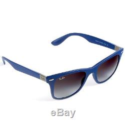 ef81faf4c8 Ray-Ban Wayfarer Liteforce Dark Blue Sunglasses with Grey Lenses RB4195  6015 8G