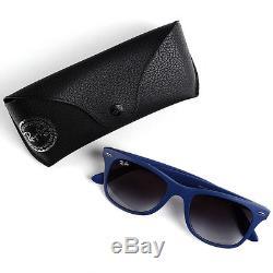 Ray-Ban Wayfarer Liteforce Dark Blue Sunglasses with Grey Lenses RB4195 6015/8G