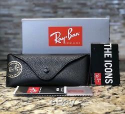 Ray-Ban Wayfarer Polarized Sunglasses RB2140 901/58 54mm Black Frame/Green Lens