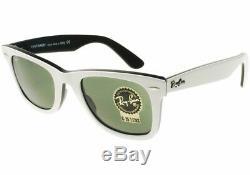 Ray Ban Wayfarer RB2140 956 White & Black 54mm G-15 Green Lens