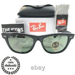 Ray-Ban Wayfarer Sunglasses RB2140 901 Black 50mm/G-15 Green Lens