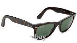 Ray-Ban Wayfarer Tortoised Polarized Sunglasses RB2140 902/58 54mm New Authentic