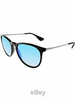 Ray-Ban Women's Mirrored Erika RB4171-601/55-54 Black Round Sunglasses