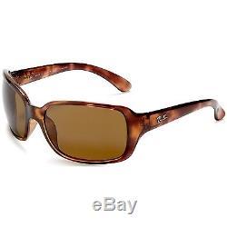 Ray-Ban Women's Polarized Highstreet RB4068-642/57-60 Brown Wrap Sunglasses