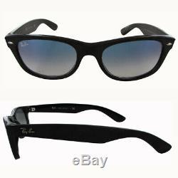 Ray Ban Womens RB2132 New Wayfarer Classic Sunglasses, Black/Light Blue Graident
