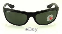 Ray-ban Balorama Rb4089 601/58 62mm Black / Polarized Green Classic G-15
