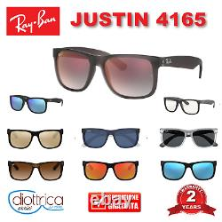 Ray-ban Justin Rb4165 Rayban Occhiale Da Sole Occhiali Uomo Donna Specchio Polar