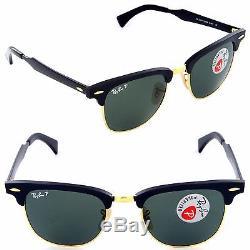 b1ada374643aa Ray-ban Men s Polarized Aluminum Clubmaster Rb3507 136 n5 Black 51mm G-15  Lenses
