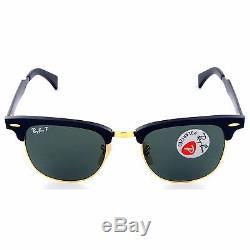 Ray-ban Men's Polarized Aluminum Clubmaster Rb3507 136/n5 Black 51mm G-15 Lenses