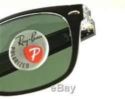 Ray-ban New Wayfarer Rb2132 605258 55mm Black-trans / Polarized Green 6052/58