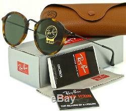Ray-ban Round Fleck Rb2447 1157 49mm Tortoise-black / Green Classic G-15
