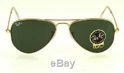 Ray-ban Small Aviator Rb3044 L0207 52mm Gold / Green Classic-15