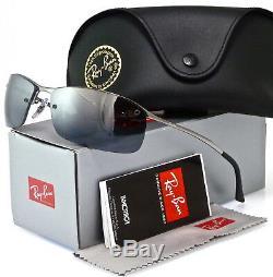 Ray-ban Top Bar Rb3183 004/82 63mm Gunmetal / Silver Gradient Mirror Polarized