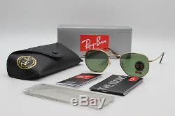 Ray ban hexagonal new sunglasses for men women classic green lens / Gold RB3548