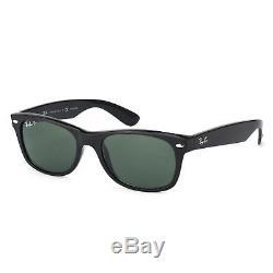 RayBan New Wayfarer Classic POLARIZED Sunglasses Black Green Classic 2132 55-18