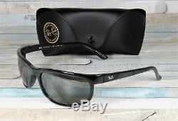 RayBan RB2027-601/W1 PREDATOR 2 BLACK dark grey Polarized 62 mm Men's Sunglasses