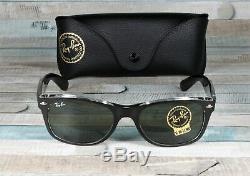 RayBan RB2132-6052 NEW WAYFARER BLACK TRANSPARENT green 52 mm Men's Sunglasses