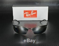 RayBan RB3183 004/82 GUNMETAL POLARIZED GREY SILVER GRAD. 63 mm Men's Sunglasses