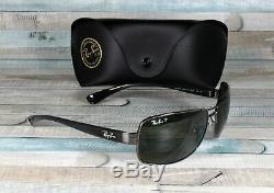 RayBan RB3379-004/58 GUNMETAL green Polarized 64 mm Men's Sunglasses