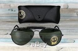 RayBan RB3422Q-9040 AVIATOR CRAFT LEATHER BLACK green 58 mm Men's Sunglasses