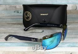RayBan RB3566CH-004/A1 GUNMETAL green mir blue Polarized 65 mm Men's Sunglasses