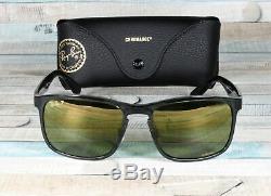RayBan RB4264-876/6O SHINY GREY green mirror Polarized 58 mm Men's Sunglasses