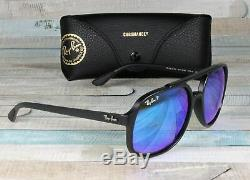 RayBan RB4312CH-601SA1 MATTE BLACK green blue Polarized 57 mm Men's Sunglasses