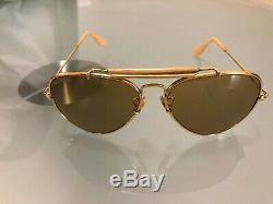 VTG 1987 Ray-Ban B&L Gold The General 50th Anniversary Aviator Sunglass USA