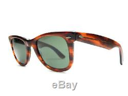 Vintage 1960's Ray-Ban WAYFARER Tortise Sunglasses & Leather Case B&L 5024