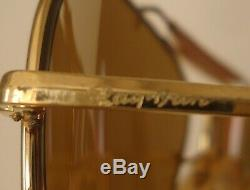 Vintage 1987 Ray-Ban B&L 24K Gold The General 50th Anniversary Aviator LARGE 62m