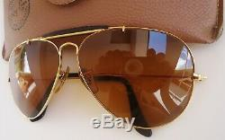Vintage 1989 Ray-Ban B&L Gold Plated Outdoorsman Chromax Driving Series Aviator