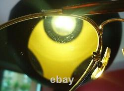 Vintage 1991 Ray-Ban B&L Diamond Hard Survivor Tortoise Frame Aviator LARGE 62mm