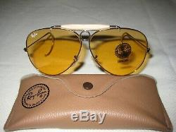 Vintage B&L Ray Ban Ambermatic Aviator Shooter 62mm NEW With Tags Cable Temples
