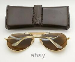 Vintage B&L Ray Ban Bausch & Lomb B15 TGM Gold Outdoorsman 62mm withCase