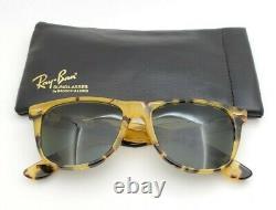 Vintage B&L Ray Ban Bausch & Lomb Yellow Tortoise Wayfarer II G15 W0893 withCase