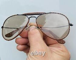 Vintage B&L Ray Ban Ostrich Leather Bausch & Lomb Sunglasses Light Scratches