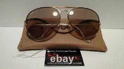 Vintage B&l Ray Ban Tortuga Aviator USA 6214 Brown Changeable + Case