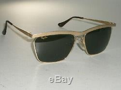 Vintage B&l Ray-ban W1303 Classic G15 Uv Matte Gold Olympian III DLX Sunglasses