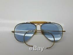 Vintage Bausch And Lomb Ray Ban Aviator Sunglasses B&l Lenses U. S. A 58-14