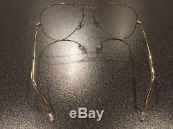 Vintage NOS B&L Ray Ban Aviator 24K GP Sunglass Eyeglass Frame 5814 USA New