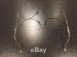 Vintage NOS B&L Ray Ban Aviator Large Metal II Sunglasses Eyeglass Frame 6214