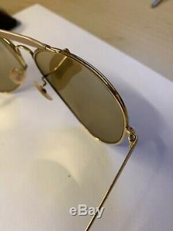 Vintage RAY BAN The General 50th Anniversary Lenses Sunglasses Gold