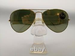 Vintage Ray Ban Aviator Sunglasses Bausch&Lomb USA RB3 Full Mirror 60s 70s Rare