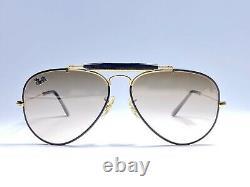 Vintage Ray Ban B&l Precious Metals 58mm Black Outdoorsman Brown Sunglasses