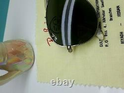 Vintage Ray Ban Driving Series Chromax Aviator Sunglasses B&l Lenses U. S. A 58-14