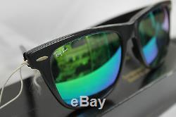 Vintage Ray Ban Wayfarer II GREEN MIRROR! NOS! USA