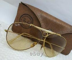 Vtg B&l Bausch And Lomb Ray Ban Shooter 1/30 10k Go Sunglasses Changeable Odm